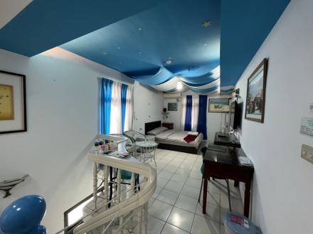 Room 3621 台南(希臘海洋風),2人房,近安平景點,停車方便,10坪(約30m2)