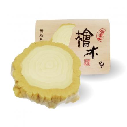 台灣年輪手工皂 - 牛樟芝(盒裝)100g